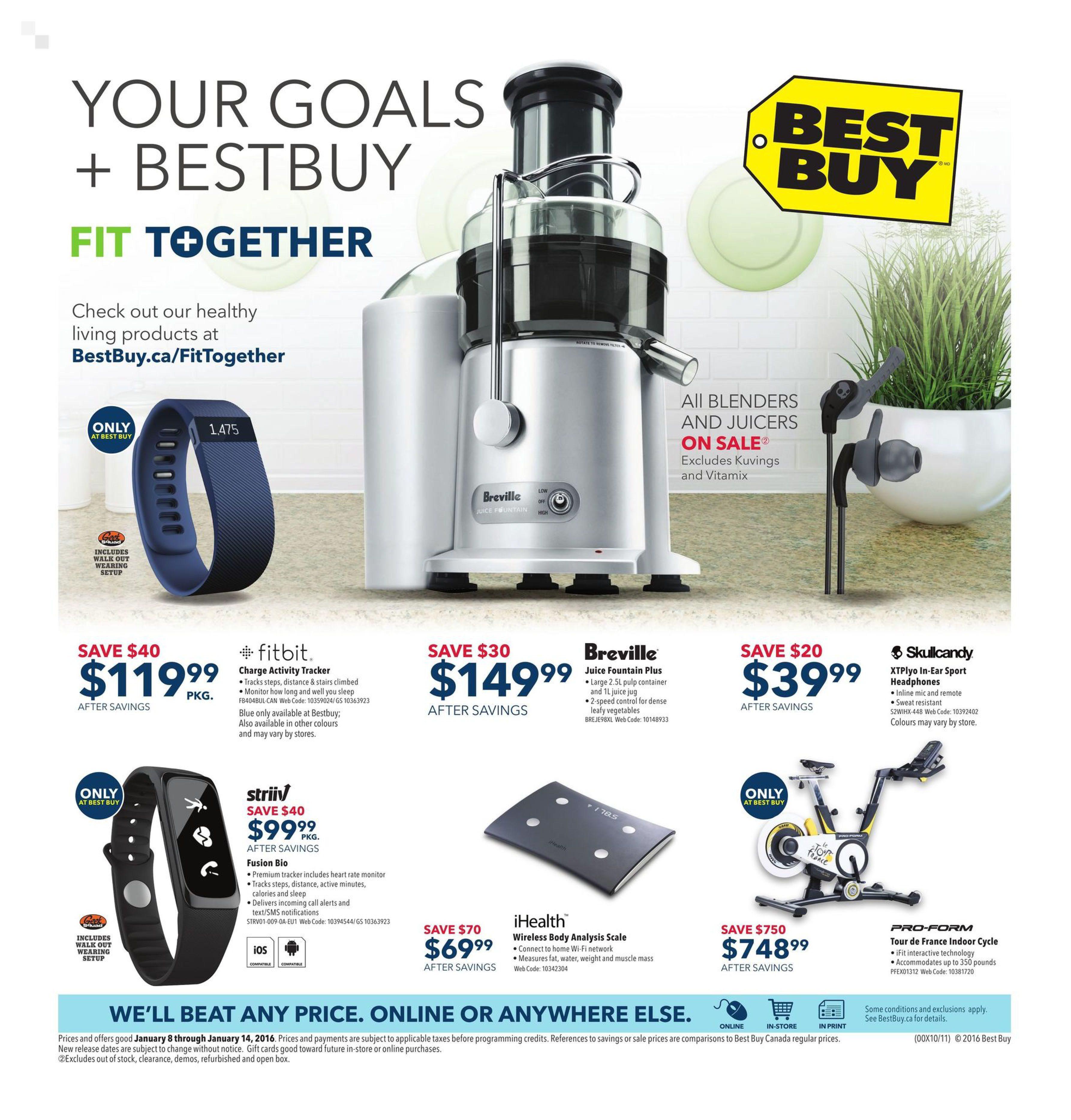 best buy weekly flyer weekly your goals bestbuy jan 8 14 rh redflagdeals com