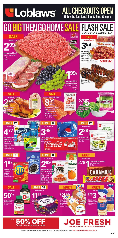 Loblaws Weekly Flyer Go Big Then Home Sale Dec 2 8 Nivea Lip Butter Vanilla 167 Gr