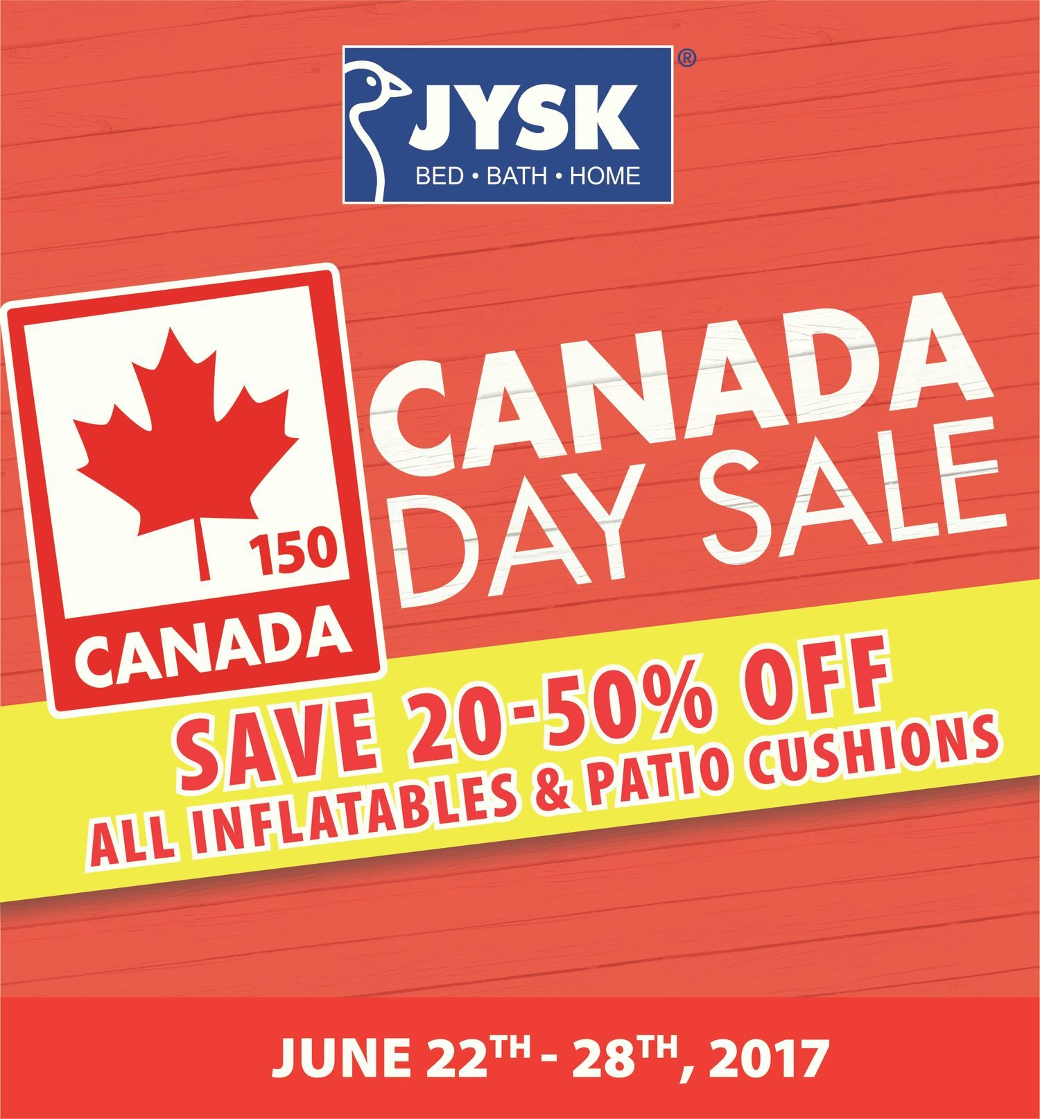 JYSK Weekly Flyer Weekly Canada Day Sale Jun 22 – 28