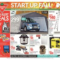 Canadian Tire - Weekly - Start Up Fall Flyer
