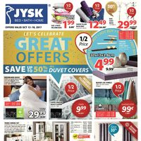 JYSK - Weekly - Let's Celebrate Great Offers Flyer