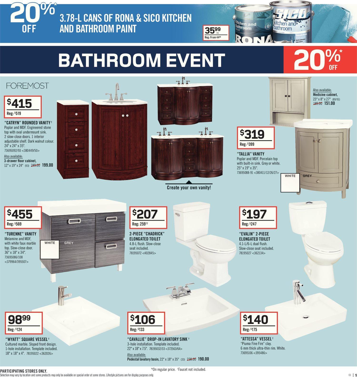 Rona Weekly Flyer Weekly Bathroom Event Oct 12 18