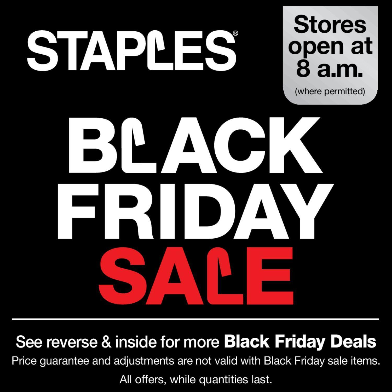 staples weekly flyer weekly black friday sale nov 22 – 28