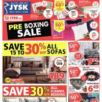 JYSK - Weekly - Pre-Boxing Sale Flyer