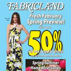 Fabricland - Fresh February Spring Preview! Flyer