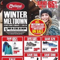 National Sports - Winter Meltdown Flyer