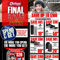 National Sports - FInal Winter Meltdown & Clearance Event Flyer