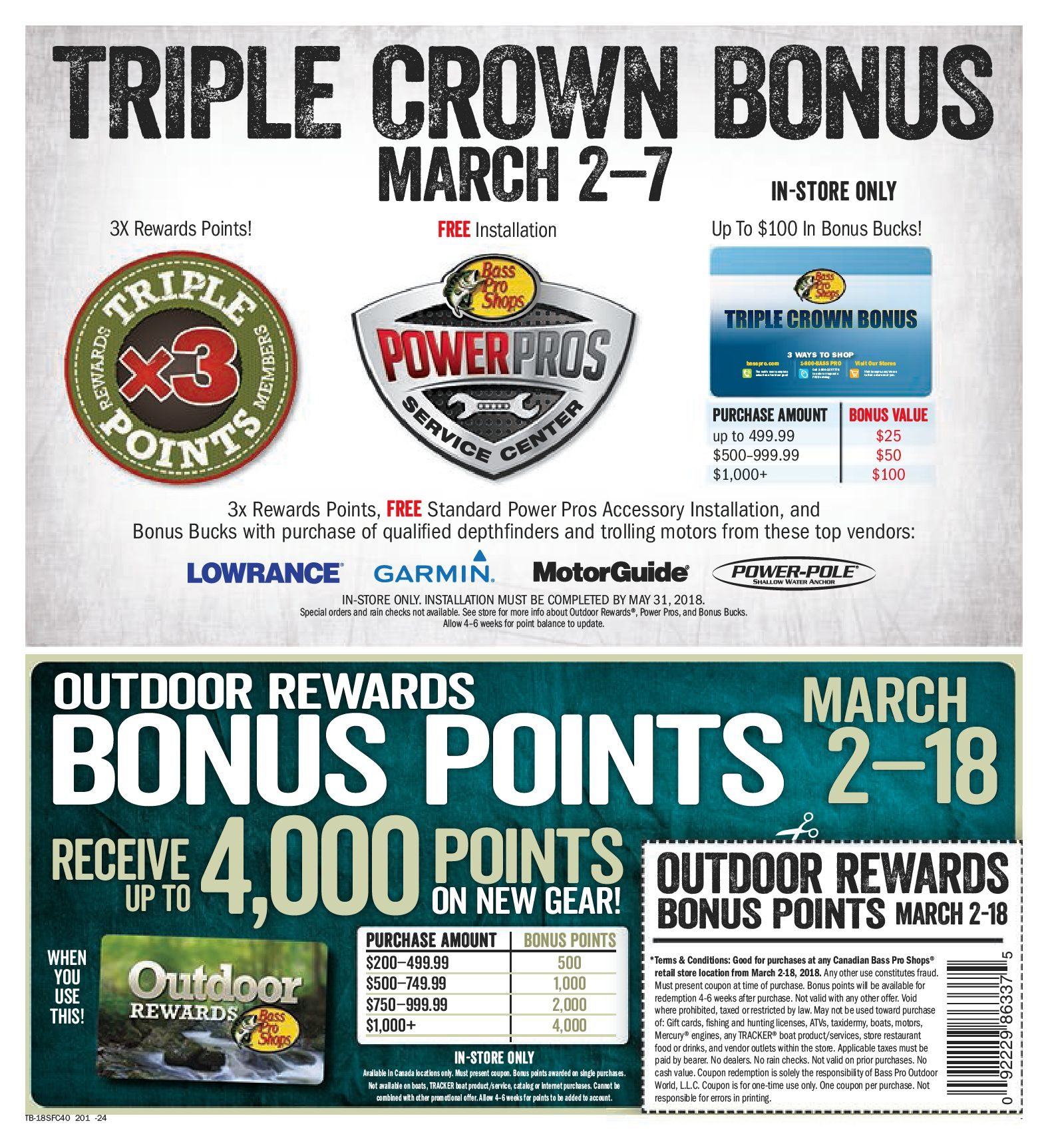 Bass Pro Shops Weekly Flyer Vaughan 2018 Spring Fishing Classic Motorguide Mg 28 Wiring Diagram Mar 2 18