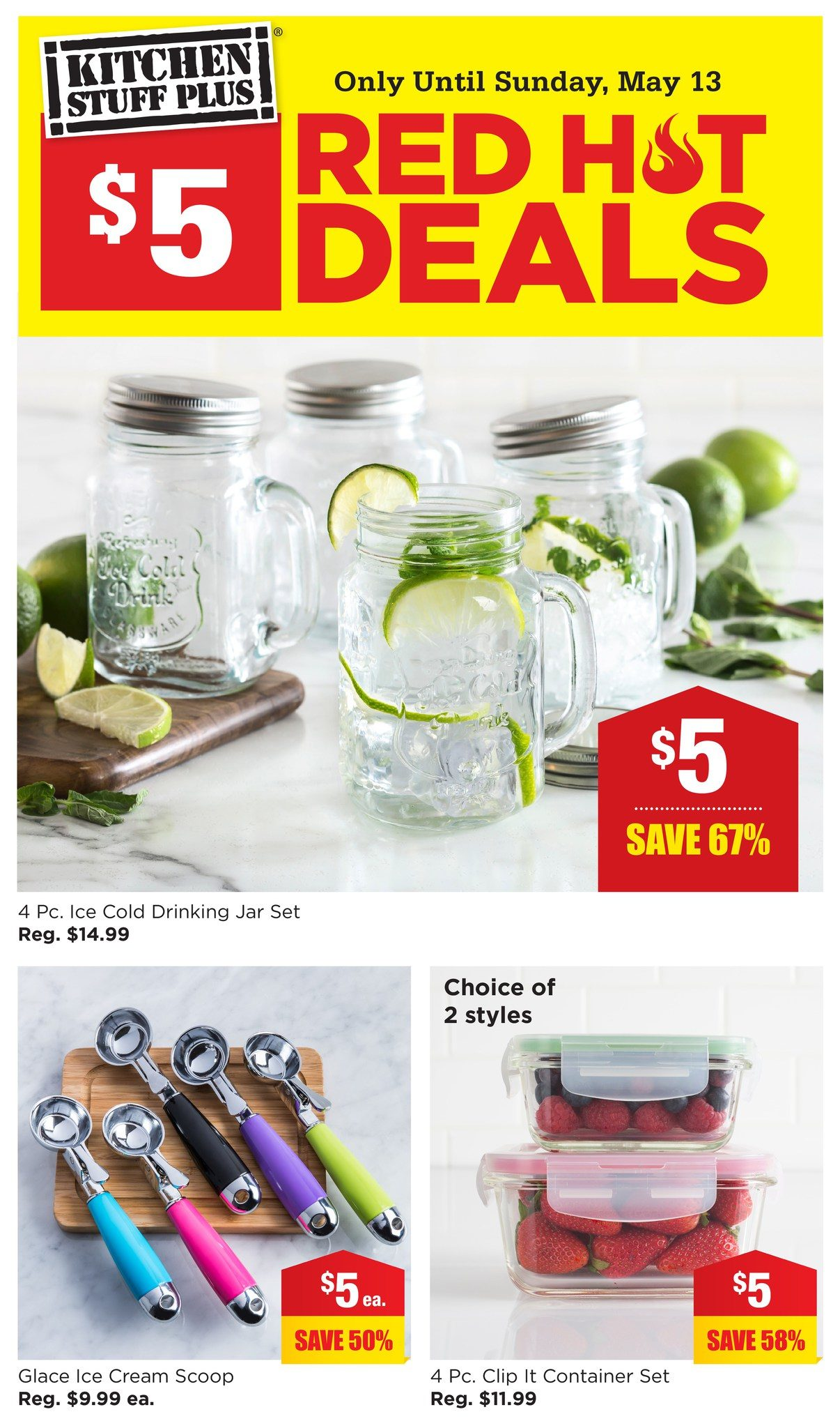 Kitchen Stuff Plus Weekly Flyer Red Hot Deals 5 Deals May 7