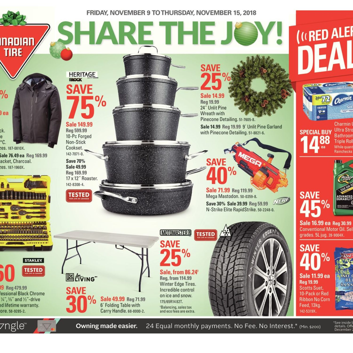 Canadian Tire Weekly Flyer Weekly Share The Joy Nov 9 15 Redflagdeals Com