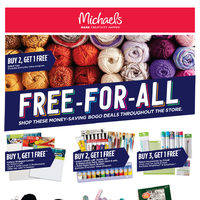Michaels - Weekly - Free-For-All Flyer