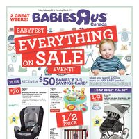 Babies R Us - 2 Great Weeks! - Babyfest Everything On Sale Event! Flyer