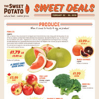 The Sweet Potato - Sweet Deals Flyer