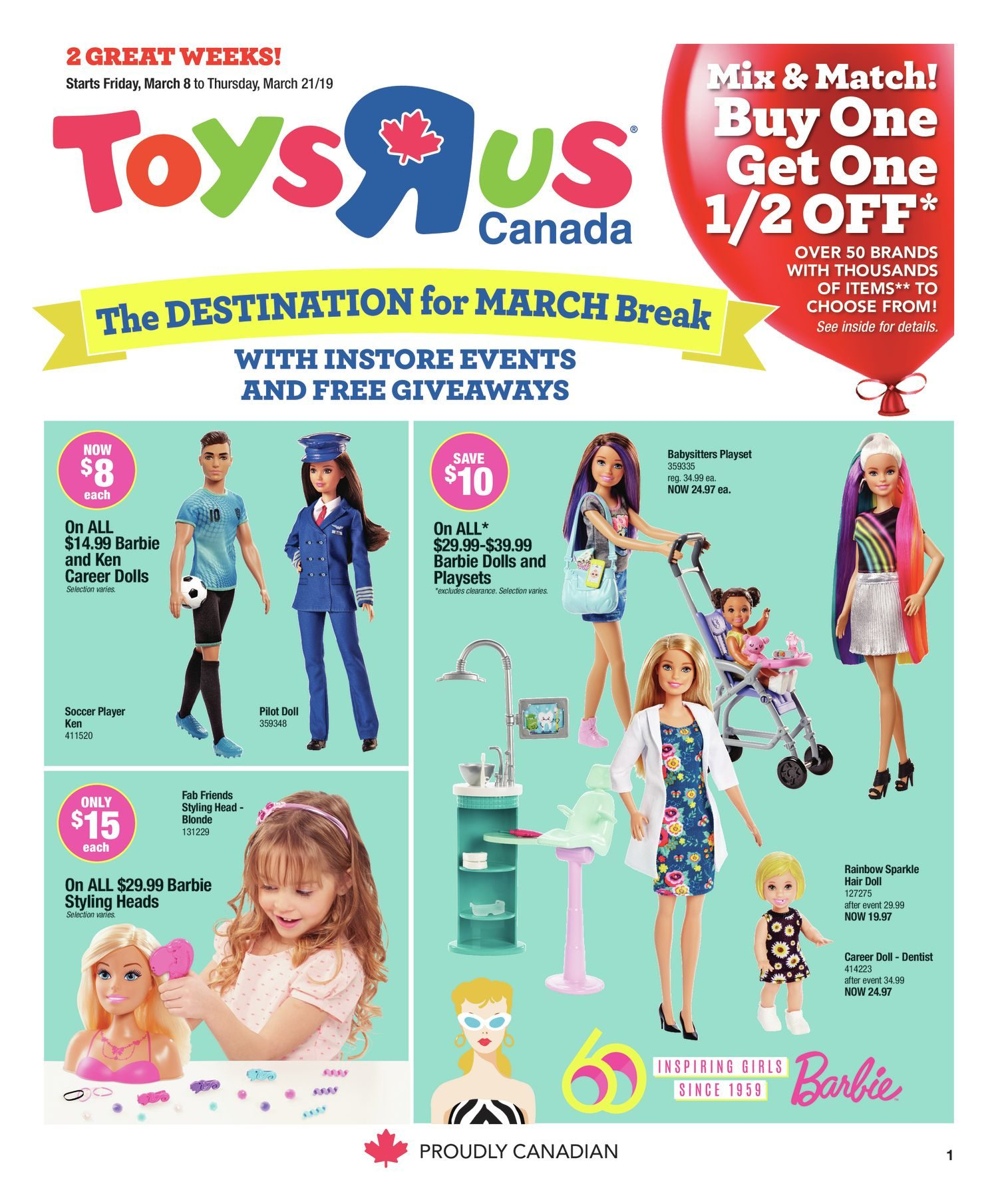 a6f9e7faac05 Toys R Us Weekly Flyer - 2 Great Weeks! - Mar 8 – 21 - RedFlagDeals.com