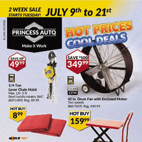 Princess Auto - 2 Week Sale - Hot Prices, Cool Deals Flyer