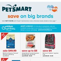 PetSmart - Treats Membership Only - Save On Big Brands Flyer