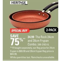 Heritage the Rock 24 Cm and 28 Cm  Frypan Combo