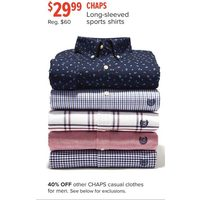 Chaps Long-Sleeved Sports Shirts