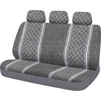 Pro-Point Universal Bench Seat And Headrests Covers - Grey/White