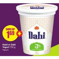 Halal Or Dahi Yogurt