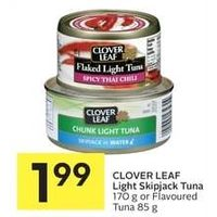 Clover Leaf Light Skipjack Tuna Or Flavoured Tuna