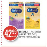 Enfamil a+, a+2  Or Gentlease  Infant Formula Refill