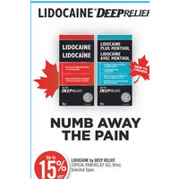 Lidocaine By Deep Relief Topical Pain Relief Gel