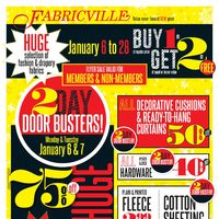Fabricville - Winter Clearance Flyer