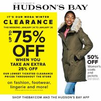 The Bay - Weekly - It's Our Mega Winter Clearance Flyer