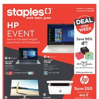 Staples - Weekly - HP Event Flyer