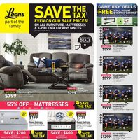Leon's - Part of The Family - Save The Tax Flyer