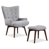 Scott Living Kari Fabric Accent Chair with Ottoman