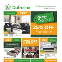 Dufresne - Green Tag Days Flyer