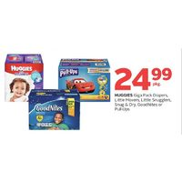 Huggies Giga Pack Diapers, Little Movers, Little Snugglers, Snug & Dry, Goodnites Or Pull-Ups