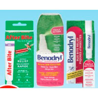 After Bite, Benadryl or Lanacane Topical Anti-Itch Products