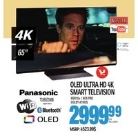 Panasonic OLED Ultra HD 4K Smart Television  - 65""