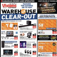 Visions Electronics - Weekly - Warehouse Clear-Out Sale Flyer