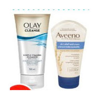 Aveeno Lotion, Pond's Cream or Olay Facial Cleansers