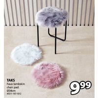 Taks Faux Lambskin Chair Pad