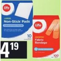 Life Brand Fabric Bandages or Non-Stick Pads