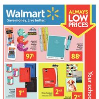 Walmart - Back To School - Your School Essentials Flyer