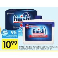 Finish Jet-Dry Turbo Dry, Dishwasher Cleaner Or Dish Pods