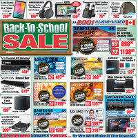 2001 Audio Video - Back-To-School Sale Flyer