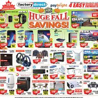 Factory Direct - Huge Fall Savings! Flyer