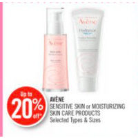 Avene Sensitive Skin Or Moisturizing Skin Care Products