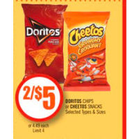 Doritos Chips Or Cheetos Snacks