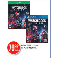 Watch Dogs 3 Legion For PS4 Or Xbox One