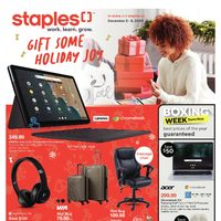 Staples - Weekly - Gift Some Holiday Joy Flyer