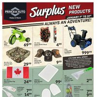 Princess Auto - Surplus - New Products Flyer