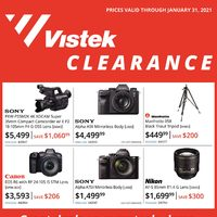 Vistek - Monthly Offers - Clearance Sale Flyer